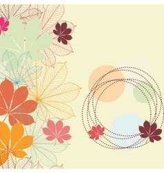 seamless background with falling autumn leaves vector image