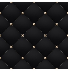 Seamless luxury dark black pattern and background vector image