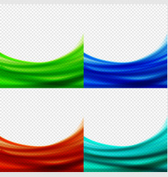 Set abstract bluegreenred backgrounds vector