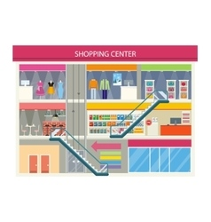 Shopping Center Buiding Design vector