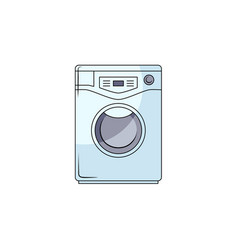 Sketch washing machine icon vector