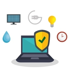 Smarthome technology isolated icon vector