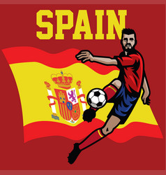 Soccer player of spain vector