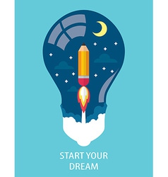 START YOUR DREAM vector image