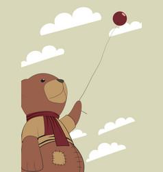 Teddy with a balloon vector