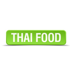 Thai food green 3d realistic square isolated vector