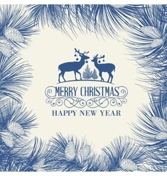 The Christmas frame vector image