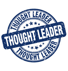 Thought leader blue grunge stamp vector