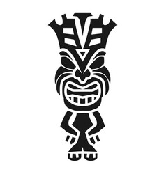 Tiki statue idol icon simple style vector
