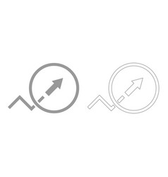 Trend or growth sign grey set icon vector
