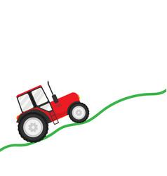Trial tractor vector