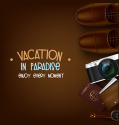 trip to world travel to world vacation road trip vector image