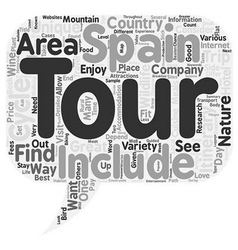 Unique Tours Of Spain text background wordcloud vector
