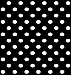 white dots on black vector image