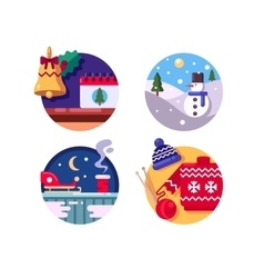 Winter fun holiday Christmas vector image
