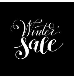 Winter sale black and white handwritten lettering vector