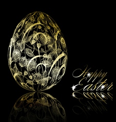 abstract golden easter egg vector image vector image