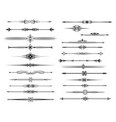 Border and divider set for vintage frame design vector