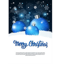 creative holiday poster merry christmas greeting vector image