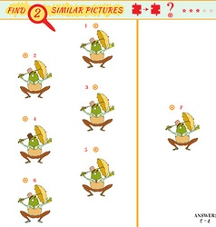 Find two similar pictures vector image vector image