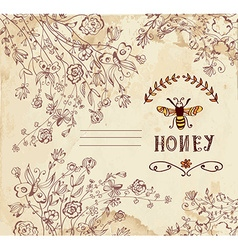 Honey label or background for organic products vector image vector image