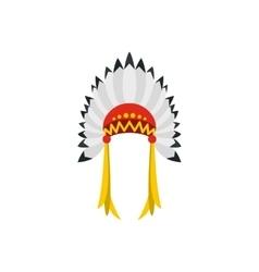 Native American indian headdress icon vector image vector image