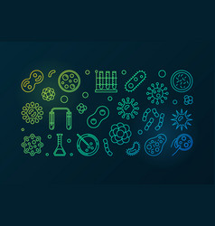 pathogenicity colorful outline vector image vector image