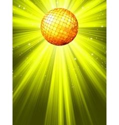 Sparkling Disco Ball Background vector image vector image