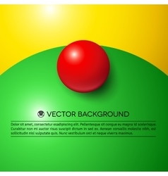 Abstract minimal frame with colorful balls vector image vector image