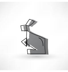Creative Rabbit Icon vector image