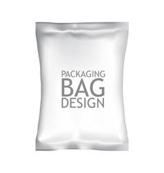 White Blank Foil Food Snack Sachet Bag Packaging vector image vector image