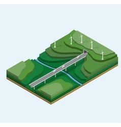 Wind generators vector image