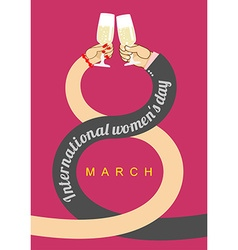 8 March Plexus hands Brotherhood to drink alcohol vector image