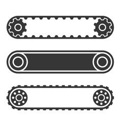 conveyor belt line set on white background vector image vector image