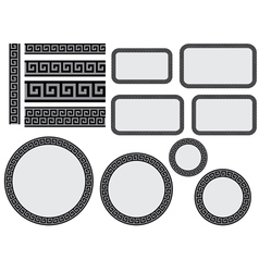 design elements with greek pattern vector image vector image