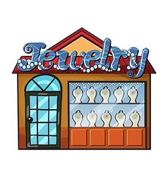 A jewelry shop vector image