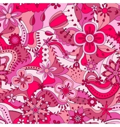 Abstract seamless pattern with flowers vector image vector image