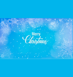 christmas greeting on snow background merry vector image vector image