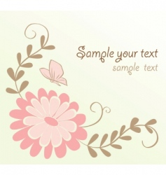 cute floral card vector image