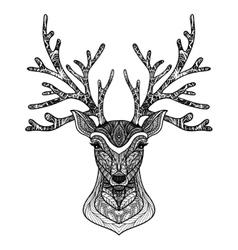 Decorative Deer Portrait vector image
