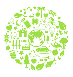 environment icon in circle vector image vector image