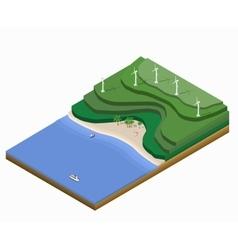 Isometric landscape vector image