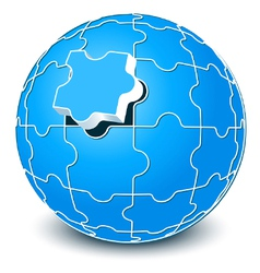 spherical puzzle vector image