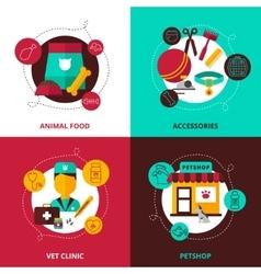Veterinary 2x2 Design Concept vector image vector image