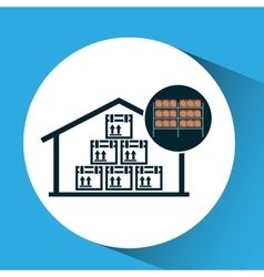 warehouse box storage icon vector image vector image