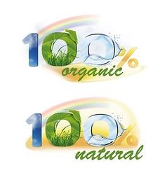 100 organic natural vector