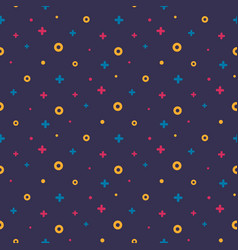 1980s style abstract shape violet memphis pattern vector image