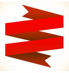 3d double banner ribbon design element banner vector image
