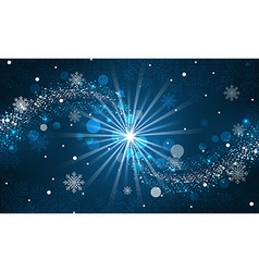 Abstract winter background Snowfall sparkle vector