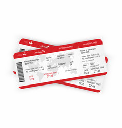 airplane tickets boarding pass tickets template vector image